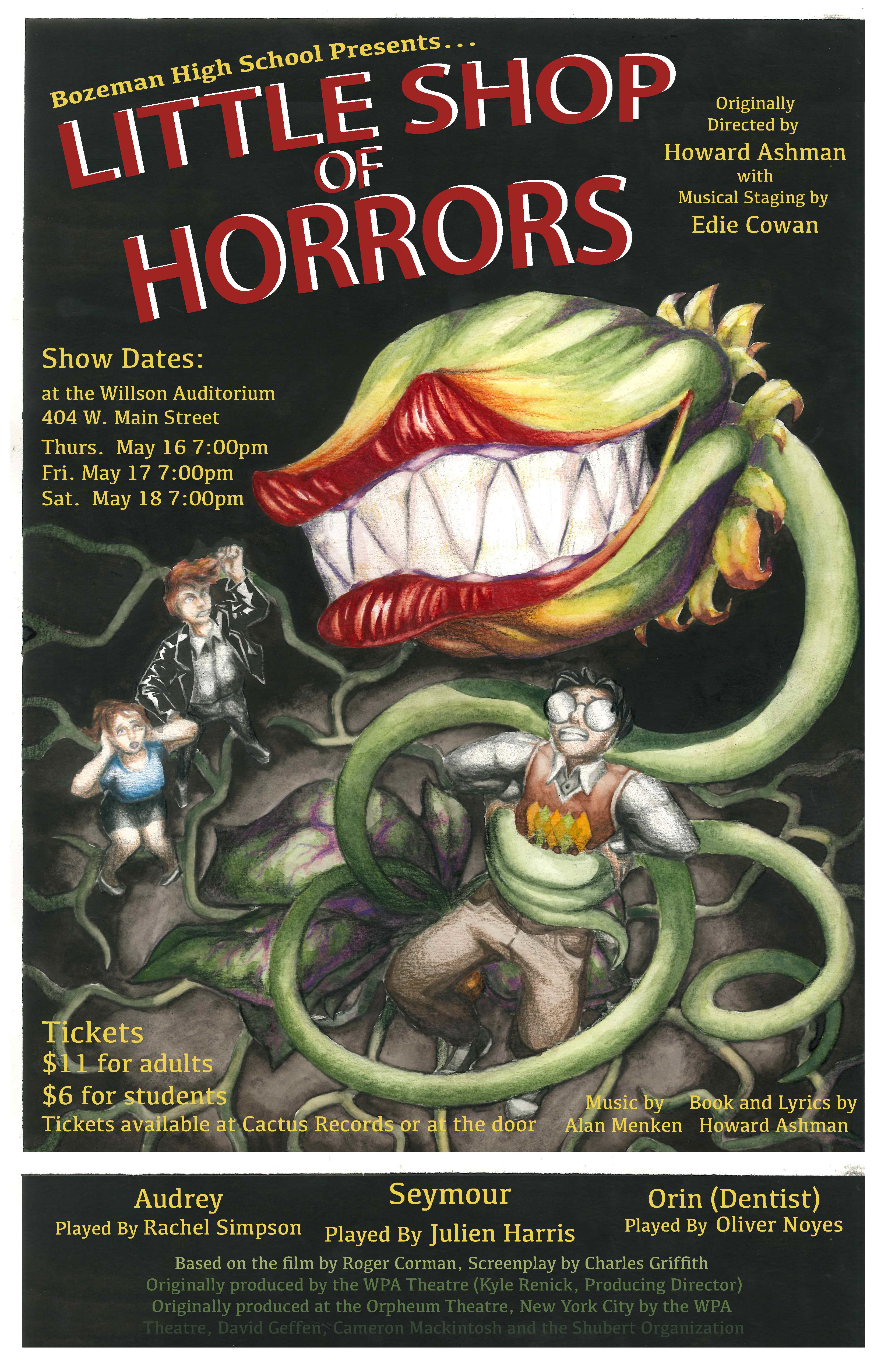 ExpiredBozeman High's Little Shop Of Horrors, Thursday May 16th 2019