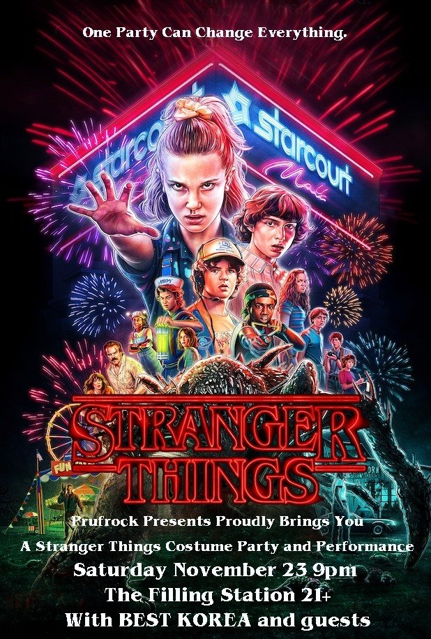 ExpiredStranger Things Costume Party w/ Best Korea and guests