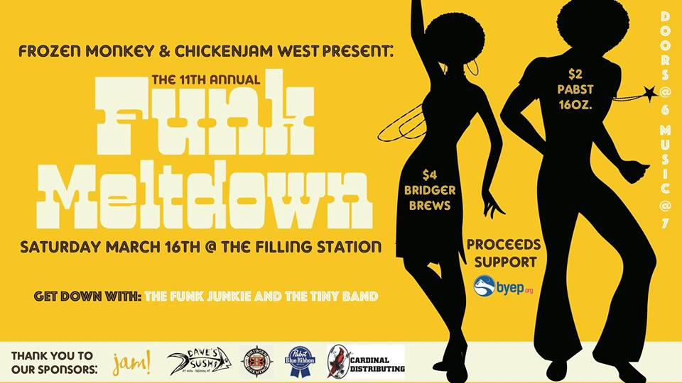 ExpiredThe Funky Meltdown featuring The Tiny Band  w/ The Funk Junkie (BYEP Benefit)